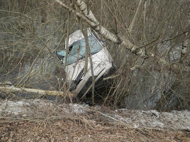Под Костромой отправил в кювет иномарку  автомобиль «Хонда», фото-2